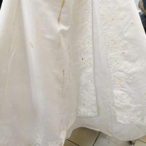 Выведение пятен со свадебного платья