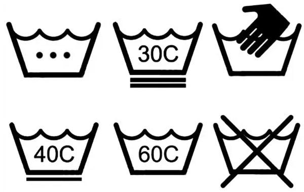 знаки на ярлыке одежды о режимах стирки